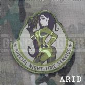 Mil-Spec Monkey Velcro Morale Patch Special Night Time Service
